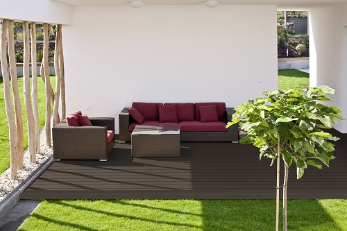 wpc terrassendielen top line komplett set 4m x 7m ebay. Black Bedroom Furniture Sets. Home Design Ideas